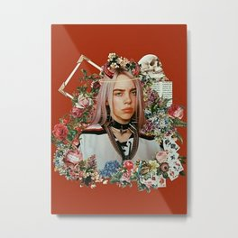 Billie Eilish Graphic Artwork Metal Print