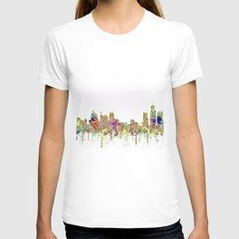 Detroit, Michigan Skyline - Faded Glory T-shirt