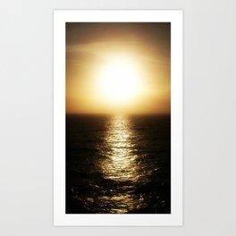 Calais ocean sunset, bloom. Art Print