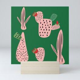 Mid Mod Cactus Green Mini Art Print