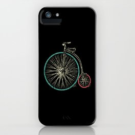 Cycling Forever   Penny Farthing High Wheel iPhone Case