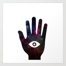 Cosmic hand Art Print