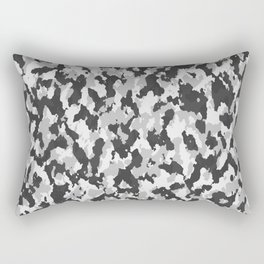 illustrations camouflage tarn texture pattern grey Rectangular Pillow