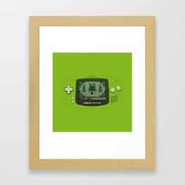 Gameboy Zelda Link Framed Art Print