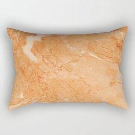 Brown & Beige Marble Rectangular Pillow