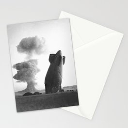 Blimp crashes due to nuclear test in Nevada, 1957 Stationery Cards