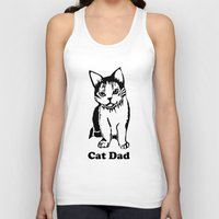 dad Tank Tops featuring Cat Dad by Artist Abigail