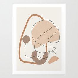 Abstract Line Movement III Art Print