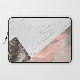 Marble with sequins and mother of pearl Laptop Sleeve
