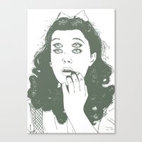 dorothy Canvas Prints featuring Dorothy by Prints_by_Gabriel