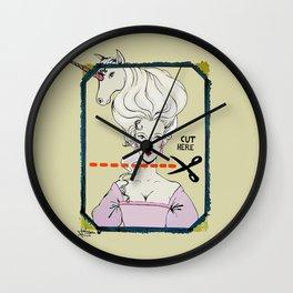 CUT HERE Wall Clock