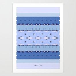 Symmetry: Greek Lace Art Print