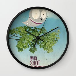 WHO SHOT THE PIGEON? Wall Clock