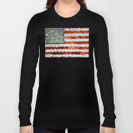American Flag Abstract Long Sleeve T-shirt