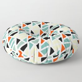 Mid Century Modern Colorful Abstract Triangle Shapes Pattern Floor Pillow