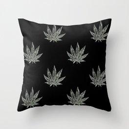 Sweet Leaf Blacklight 2 Throw Pillow