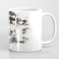 flag Mugs featuring FLAG by TOO MANY GRAPHIX