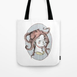 The Girl with an Octopus Hat Tote Bag