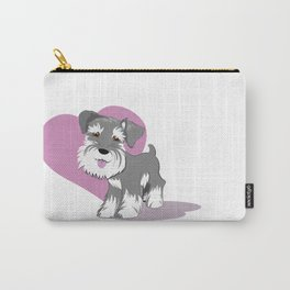 Miniature Schnauzer Puppy Dog Adorable Baby Love Carry-All Pouch