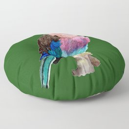Lilac Breasted Roller Bird Floor Pillow