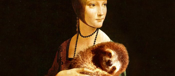 Lady With A Sloth Coffee Mug