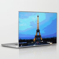 eiffel Laptop & iPad Skins featuring Eiffel by osile ignacio