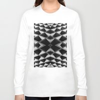 grid Long Sleeve T-shirts featuring Grid by blurdvizionz