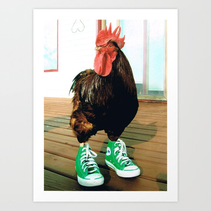 Rosie the Rooster Art Print