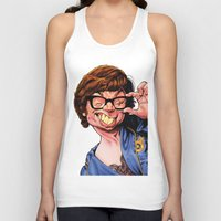 snl Tank Tops featuring Austin Power, Mike Myers, color by Patrick Dea