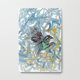 Songbird Trapped in a Cage of Its Expectations Metal Print