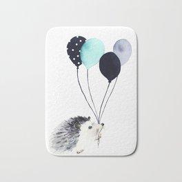 Hedgehog With Balloons Bath Mat