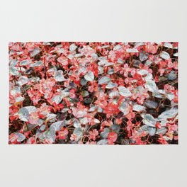 She Wore Red Flowers Rug