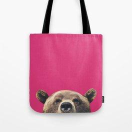 Bear - Pink Tote Bag