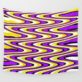Purple gold white and black slur Wall Tapestry