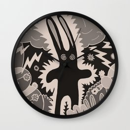 Electric Bunny Wall Clock