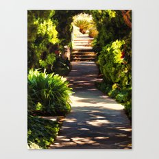 Secluded Path in Autumn Canvas Print