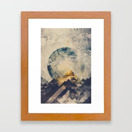 One mountain at a time Framed Art Print