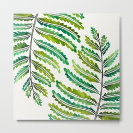 Fern Leaf – Green Palette Metal Print