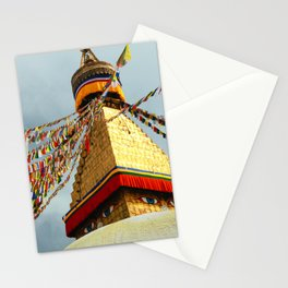 Boudhanath stupa in Nepal Stationery Cards