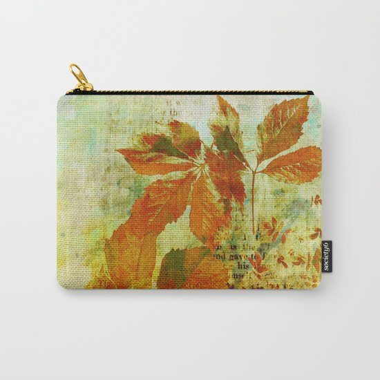 mixed media leaves Carry-All Pouch