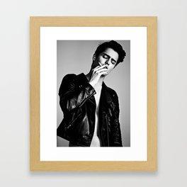 Breathe white, Bleed black Framed Art Print