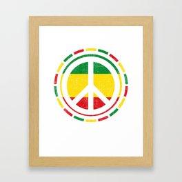 Distressed Rasta Peace design Gift for Reggae Lovers product Framed Art Print