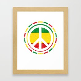 Distressed Rasta Peace design Gift for Reggae Lovers product Framed Art Print