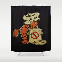 lobster Shower Curtains featuring Lobster by Barbo's Art