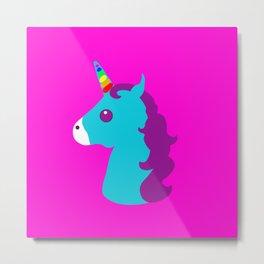 Portrait  of a Unicorn Metal Print