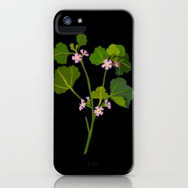 Mary Delany Botanical Vintage Floral Collage Malva Parviflora iPhone Case
