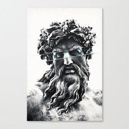 Zeus the king of gods Canvas Print