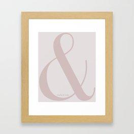Linda & Lena ampersand Framed Art Print