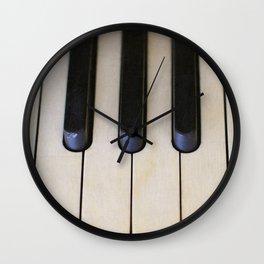 Antique Piano Keys Wall Clock