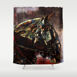 Real Horse Power Shower Curtain